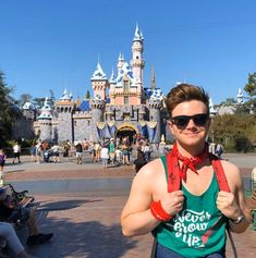 """""""Happiest boy on Earth. Sleeping Beauty Castle, Happy Boy, Chris Colfer, Ricky Martin, Disney Halloween, Love You So Much, Glee, Peter Pan, Bestselling Author"""
