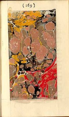 Tristram Shandy by Lawrence Stern - every first edition had a unique marbled page