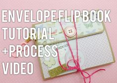 An envelope flip book made with Authentique's 'Grateful' collection. I based this flip book on a tutorial by You can find the tutorial her. Envelope Book, Diy Envelope, Pen Pal Letters, Pocket Letters, Papel Scrapbook, Mini Scrapbook Albums, Mini Albums, Book Making, Card Making