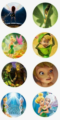 "Tinkerbell free 1"" digital bottle cap images"