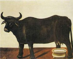Black Buffulo on a White Background - Niko Pirosmani, Wikipaintings