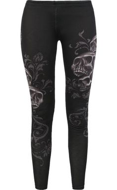 Skull Leggings by Rock Rebel ~ EMP