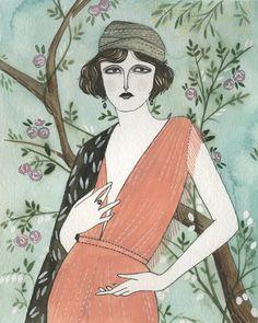 Ziegfeld Girl: by Yelena Bryksenkova (via design*sponge)  http://www.designspongeonline.com/2010/06/yelena-bryksenkova.html
