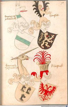 Bruderschaftsbuch des jülich-bergischen Hubertusordens Niederrhein, um 1500 Cod.icon. 318  Folio 90r