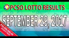 PCSO Lotto Results September 29, 2017 (6/58, 6/45, 4D, SWERTRES & EZ2 LO...