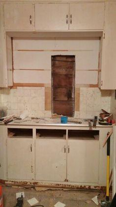 Repurposing old bath cabinet into new vanity