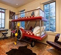 Super Cool Airplane Beds for Boys Bedroom Design with Aviation Theme