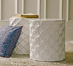 Paper mache furniture. These are awesome.
