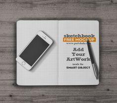 Sketchbook Mockup Free PSD (5.5 MB) | PSDDude