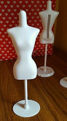 2 x Harumika Doll Clothes Mannequins + Extra Stand Holder