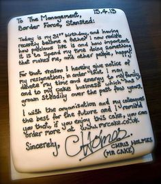 A fine resignation letter...and some clever PR! This has gone viral today