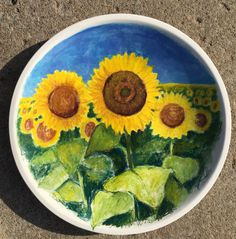 This hand painted grand platter is a functional piece of art as it is food safe ceramic. across deep 8 lbs. Sunflower Fields, Platter, Safe Food, Guacamole, Art Pieces, Vibrant, Mexican, Hand Painted, Deep