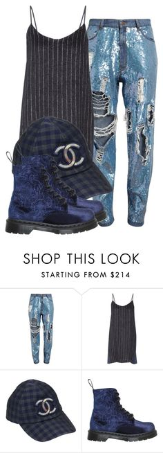 """""""Untitled #1654"""" by palemermaid ❤ liked on Polyvore featuring Ashish, Sea, New York, Chanel and Dr. Martens"""