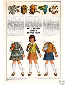 Betsy McCall Paper Doll Puppet Show 1977