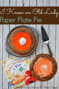 I know an old lady who swallowed a pie book activity. This is the perfect Thanksgiving activity to go along with the popular book I Know an Old Lady Who Swallowed a Pie. Your preschool and kindergarten kids will love this one!