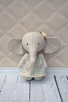 elephant pdf pattern PDF Plush elephant stuffed by NilaDolss