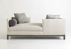 """A. Rudin Tete-a-tete Chaise for Two  Dimensions: 84"""" W x 36""""D"""