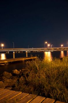 mobile alabama nightscape landscape available light causeway