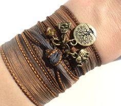 Böhmische Seide wickeln Armband Buddha von BohemianEarthDesigns