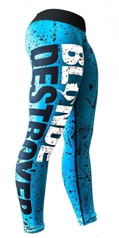 Blonde Destroyer Fitness Leggings/ Sport pants/ Gym tights Size M.