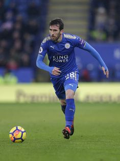 Christian Fuchs Photos - Christian Fuchs of Leicester City during the Premier League match between Leicester City and Swansea City at The King Power Stadium on February 2018 in Leicester, England. - Leicester City v Swansea City - Premier League Christian Fuchs, Leicester England, King Power, February 3, Premier League Matches, Swansea, Great Team, Squad, Socks