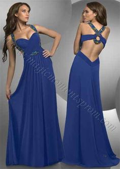 Love the halter style for extra support.  Low cut back gives it that extra sexiness. I need a reason to wear this!! $270