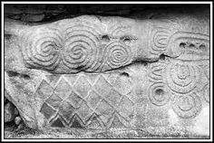 Neolithic stone carvings - Newgrange, Ireland
