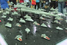 Lego Star Destroyer Fleet. I want this guy's job.