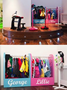 Children have their own stage in this fab playroom!!