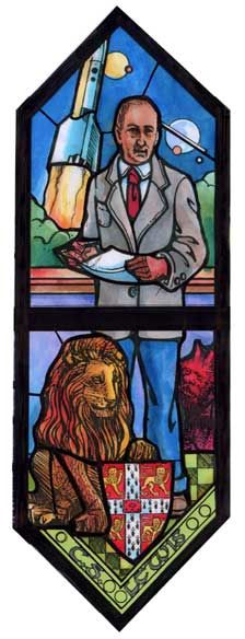 C.S. Lewis and stained glass @ St. George's Episcopal Church, Dayton, Ohio