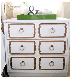 Dorothy Draper inspired DIY end table...must do this!!