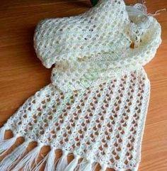 Delicadezas en crochet Gabriela 30 \u003dPatrones gratis bufandas y stolas en crochet y dos