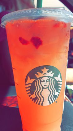 Omg this is so good it's a strawberry acai with mango syrup and lemonade