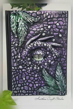 Dragon Eye Journal / Notebook - Purple (Front & Back Covers)