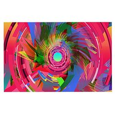 KESS InHouse Danny Ivan 'Fun Hole' Pink Multicolor Dog Place Mat, 13' x 18' ** Insider's special review you can't miss. Read more  (This is an amazon affiliate link. I may earn commission from it)