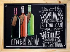 Unbelievable Wine Chalk Art, Wine