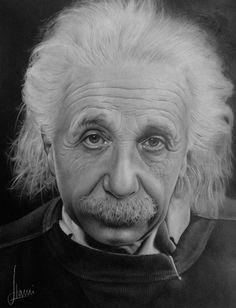 Einstein by Kim Ji-Hoon. #Photorealistic drawing.