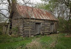 built for two old abandoned log cabin Virginia