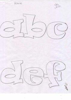 Abc recortar Number Stencils, Letter Stencils, Art Du Monde, Cool Keychains, Calligraphy Tutorial, Owl Templates, Graffiti Designs, Bubble Letters, Graffiti Lettering