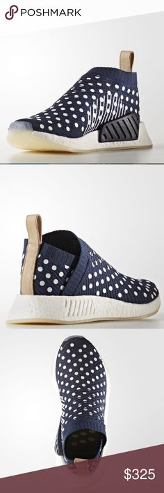 Adidas NMD CS2 Adorable limited edition polka dot NMD CS2. Brand new in box. Rare. Unfortunately didn't fit me. Looking to sell or trade for the same shoe in a 7. Adidas Shoes Athletic Shoes
