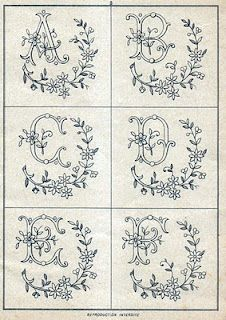 Monograms free antique patterns