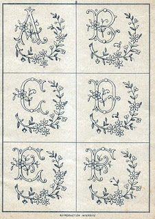 Monograms antique
