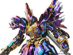 Custom Build: RG 1/144 MSN-06S Sinanju [Prism Colors + Full LED] - Gundam Kits Collection News and Reviews