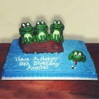 Frogs on log cake