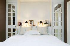 very_small_bedroom_interior_design_ideas_decoration_tips , 25 increíbles ideas de decoración de dormitorio pequeño Very Small Bedroom, Small Bedroom Interior, Home Bedroom, Bedroom Decor, Bedroom Ideas, Bedroom Night, Bedroom Wall, Wall Decor, Cama Murphy Ikea