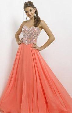 Beautiful strapless Jovani coral prom dress | prom | Pinterest ...