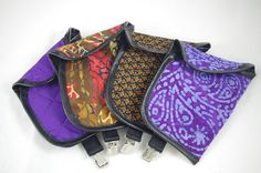 In-the-Purse CCW Concealed Carry Gun Holster--Discreet, Fast Access, Quilted w/ Leather Trim for Small Guns on Etsy, $35.00