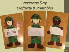 Veterans Day Craftivity & Printables #VeteransDay www.operationwearehere.com/veteransday.html