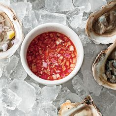 Hot Mignonette Sauce | MyRecipes.com Serve this 4-ingredient, Sriracha-based sauce with oysters.