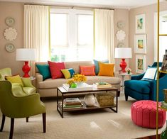 Living Room Decorating Lessons Colourful Living Room Home 23 Cozy Living Room Interior Design Ideas With Decoration In 111 Bright And Colorful Liv. Living Room Decor Help, Living Room Pillows, My Living Room, Rugs In Living Room, Interior Design Living Room, Living Room Furniture, Living Room Designs, Modern Furniture, Interior Colors